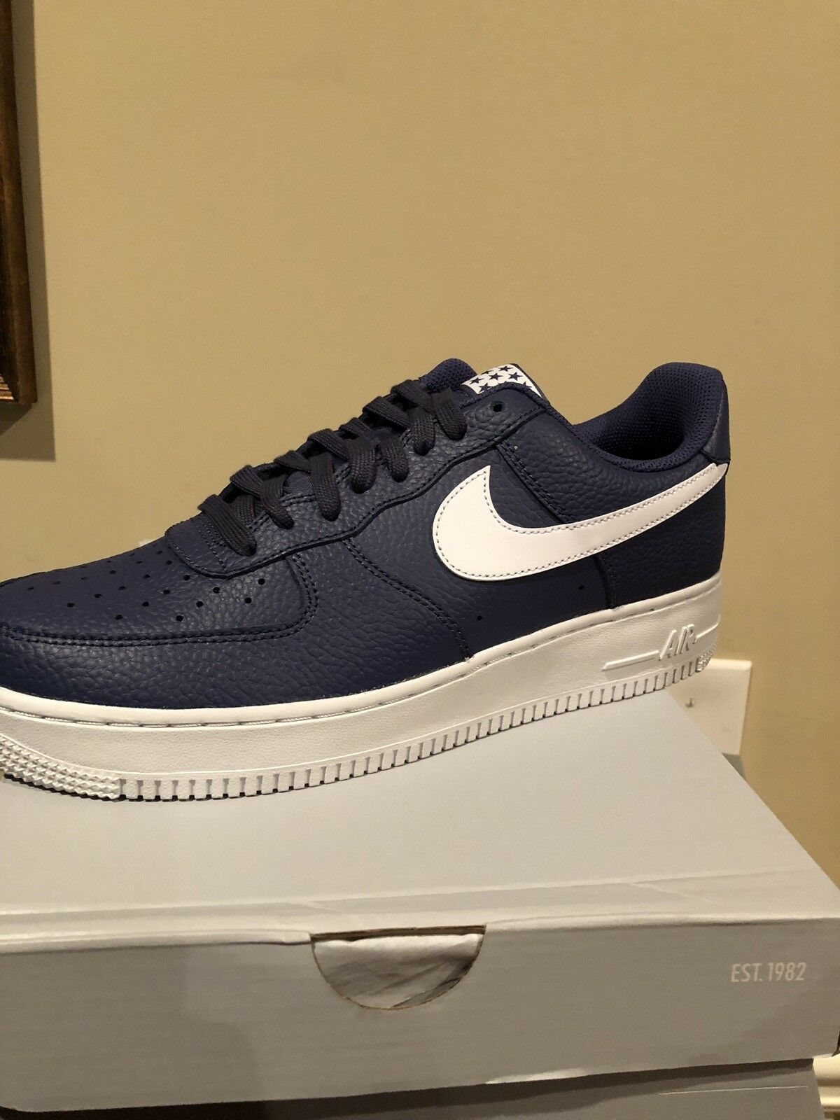 8940cac64c New Nike Air Force 1 '07 Low Mens shoes Size 9.5 bluee Recall White AA4083