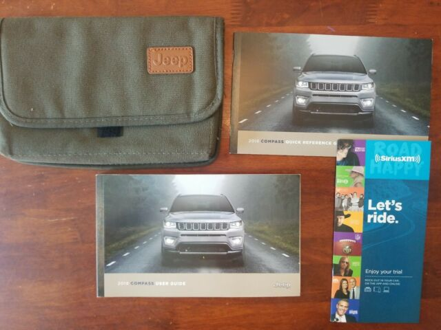 2018 18 Jeep Compass Owners Manual Guide Book W Quick Ref Manual Guide