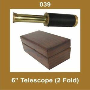 New-Collectable-Two-Fold-Nautical-Telescope-6-Inch-Binoculars