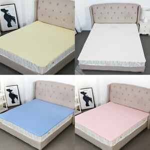 Non-slip-Bed-Sheet-Mattress-Protector-Cover-Breathable-Waterproof-Washable
