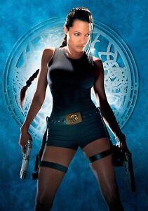 LARA-CROFT-TOMB-RAIDER-Movie-PHOTO-Print-POSTER-Textless-Art-Angelina-Jolie-006