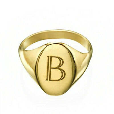 14k Yellow Gold w//Diamond Accent Initial Letter G Ring Size 7