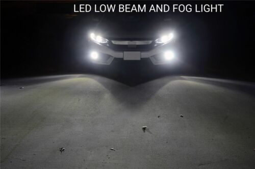 4PC Combo 9006+9005 LED Headlight Bulb White Headlight Light Bulbs High Low Beam