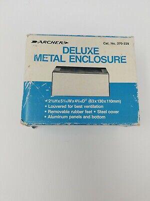 "Archer Deluxe Metal Enclosure 3.25/""x7.5/""x5 7//8/"" NOS Cat # 270-229"