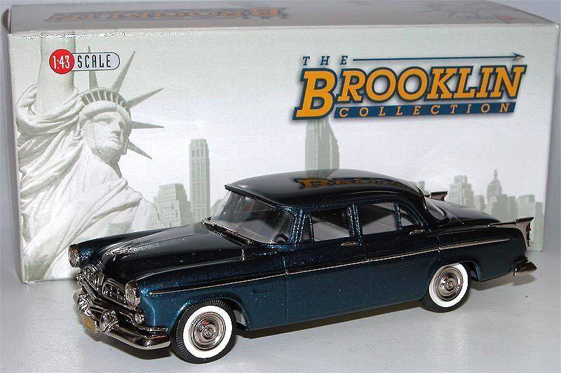 Brooklin modellllerler BRK 165 1955 Chrysler Windsor 4 -Door Sedan, blå, 1  43
