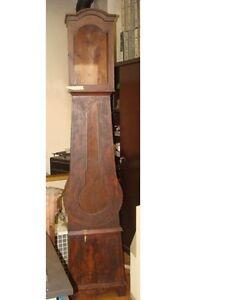 Antica colonna legno orologio a pendolo pendulum clock Standuhr ...