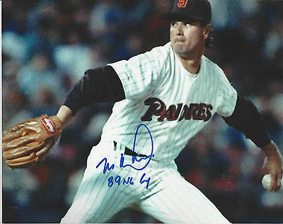 1994 AL Rookie of the Year KC Royals Bob Hamelin autographed 8x10 action photo**