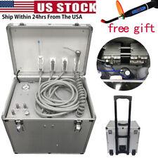 Portable Dental Delivery Turbine Unit Rolling Case Air Compressor Suction Motor