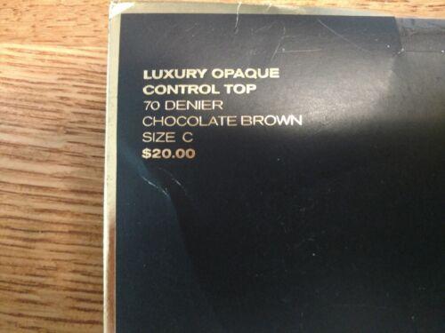 Opaco Collant Brown Luxury Signature Victoria's Size C Secret Chocolate Gold TPnSwA4