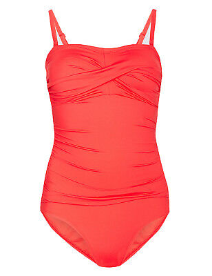 Ex Marks and Spencer Secret Slimming Textured Bandeau Swimsuit SS78