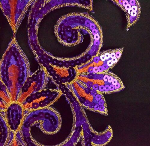 Sequined Applique Embroidery Iron On Patch Dress Costume Dance Craft S35