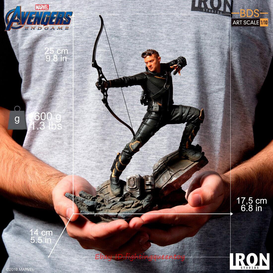 Los Vengadores Iron Studios  Tacho Hawkeye bds Arte Estatua De Escala 1 10 en existencias