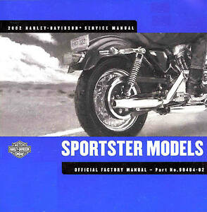 2002 harley davidson sportster service manual xlh883 xl1200 rh ebay co uk 2002 harley davidson sportster 883 manual 2002 harley davidson sportster owners manual
