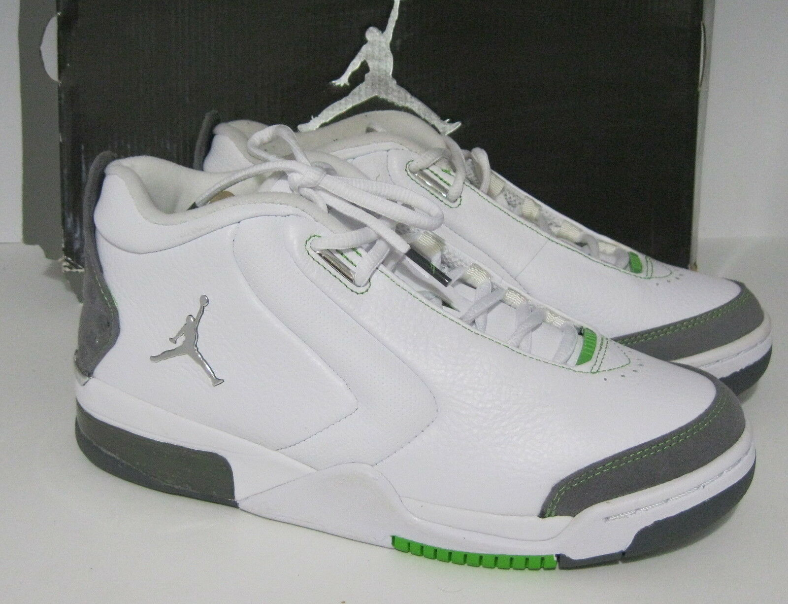 Air Jordan Big Fund Bean Blanco Metallic Plata Verde Bean Fund 310003-114 comodo el modelo mas vendido de la marca 74c5b4