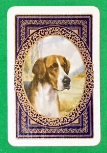 Playing-Cards-1-Single-Swap-Card-Old-Vintage-GREAT-DANE-DOG-Portrait