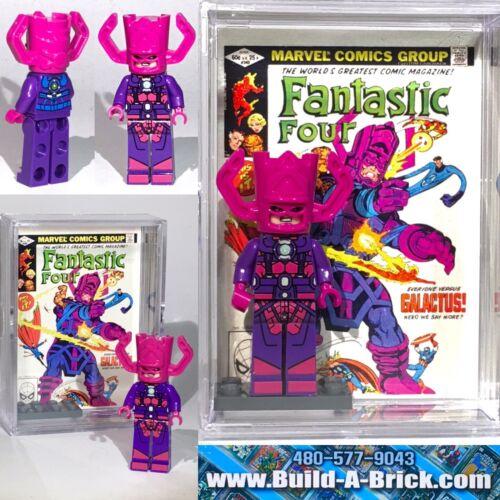Galactus comic custom MINIFIGURE w// Display Case /& lego stand 140 L buildabrick