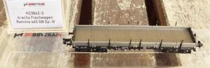 Hobbytrain-H-23862-3-Spur-N-4-achsiger-Rungen-Flachwagen-Remms-663-DB-Epoche-4