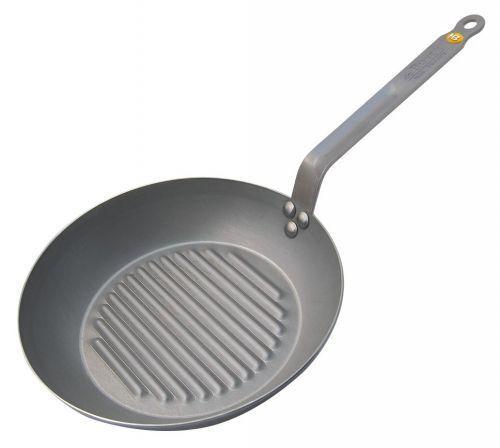 De Buyer Grill Poêle Induction Fer Poêle en fer Minéral B 26 cm Steak Poêle