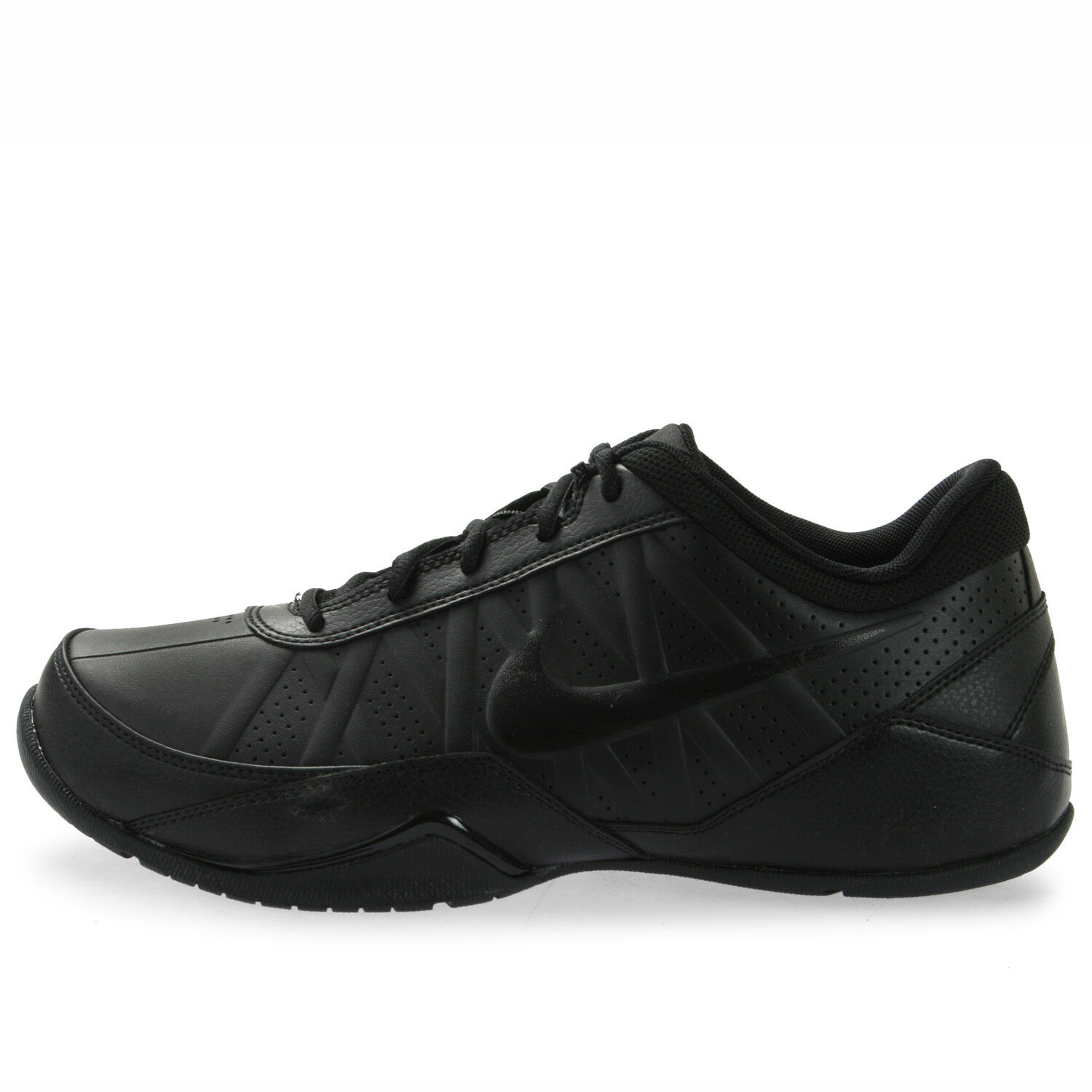 NIKE AIR RING LEADER LOW Mens 7 Black LEATHER NEW Comfortable and good-looking