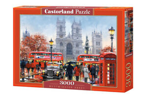 """Brand New Castorland Puzzle 3000 WESTMINSTER ABBEY 36"""" x 27"""" C-300440"""