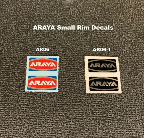 listing is for 1 pair ARAYA RIM DECALS 3 Colors