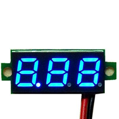 """Mini 0.28"""" DC Digital Volt Meter Panel Mount LED Voltage 2.50-30V 12V Blue"""