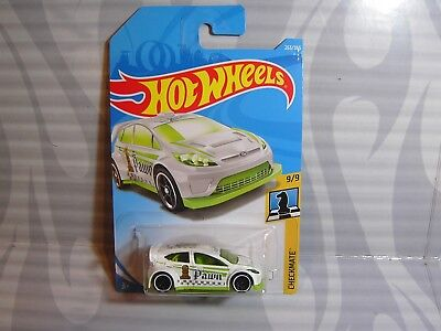 /'12 FORD FIESTA #263✰white//green;Pawn♛CHECKMATE♛2018 i Hot Wheels WW case L//M