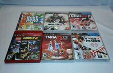 ☆ LOT 6 PS3 GAME LEGO BATMAN 2- NBA 2K11 & 2K13- MADDEN 12 - BAND HERO -MLB12