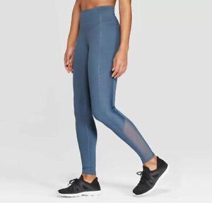 Women S C9 Champion Everyday High Waisted Punchwork Leggings 28 5 Blue Gray Ebay