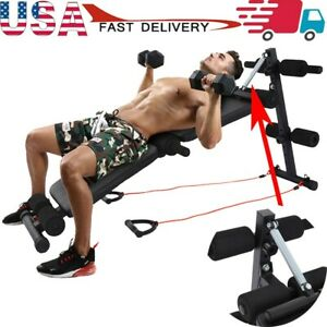 Weight Bench Adjustable Strength Training Exercise Bench Full Body Workout Ebay