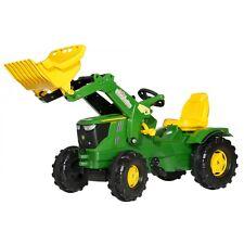 Rolly Toys John Deere 6210 R Traktor mit Frontlader Trettraktor grün
