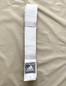 Ceinture Blanche Enfant Judo Karaté 220 cm Toile épaisse Adidas 1M10 - 1M40