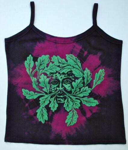"""Greenman /""""homme vert/"""" à bretelles t shirt festival païen gothique tailles 8 à 26"""