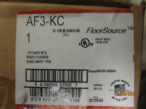 Wiremold AF3-KC Raised Floorbox Black Carpet Trim
