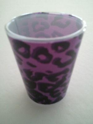 Purple Cheetah Shot Glass NEW (#858)