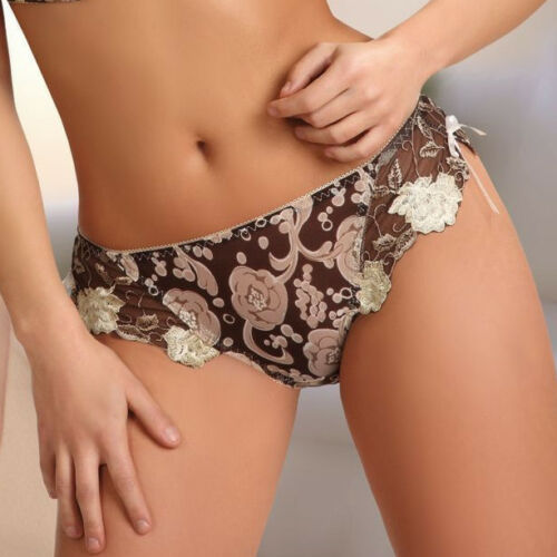 LIVCO CORSETTI Feba Luxury Super Soft Decorative Sheer Thong