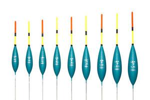 Drennan Carp 5 Pole Fishing Float  set//4  sz0.6//0.8//1//1.25grams wirestem
