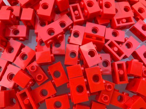 Lego 3700-Nuevo Rojo 1x2 Technic Ladrillo Con Todo//5 piezas por pedido