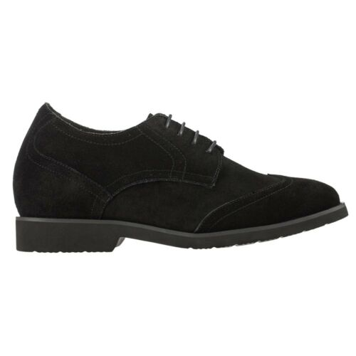 CALDEN K221211-2.6 Inches Elevator Height Increase Wing-Tip Suede Dress Oxford