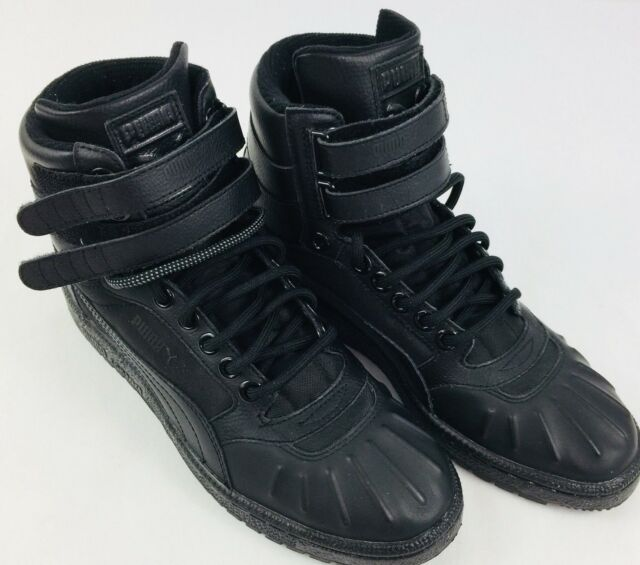 d4ee2feb415 Puma Sky II High Duck Sneaker Black 36289101 Size 7 Molded Toe 2 Lace  Styles New