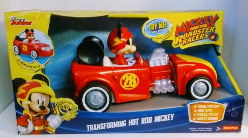 DISNEY JUNIOR-Mickey and the Roadster Racers Transforming Hot Rod Mickey New