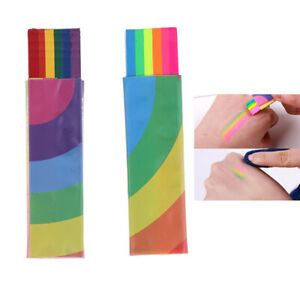 Rainbow Face Body Paint Colored Painting Stick Pen Tattoo PigmentHalloweenToolME