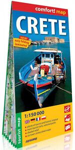 Comfort Map Crete Kreta 1 150 000 Mapa W 2019 Praca
