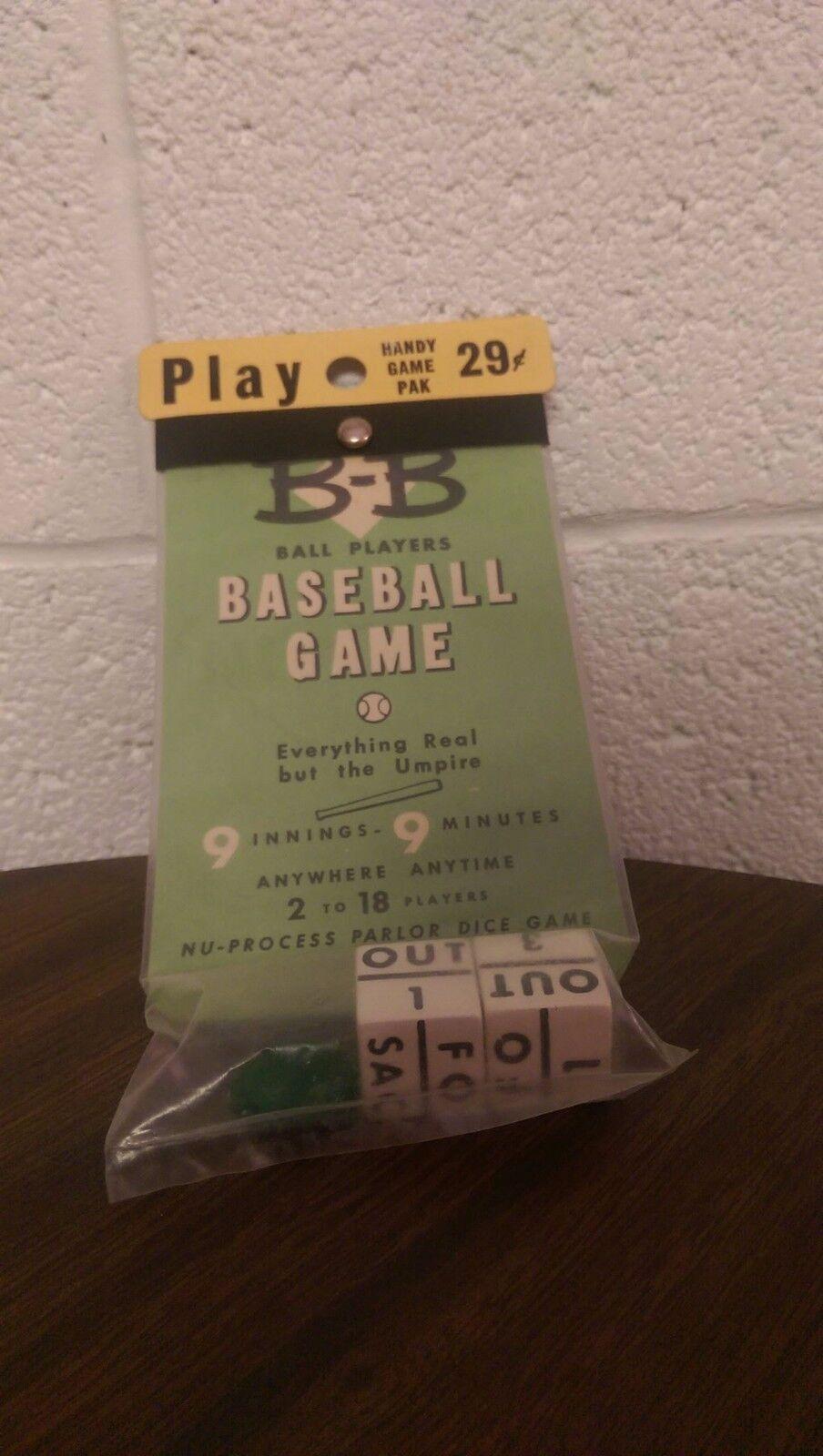 Jon Weber Manufactory B-B Baseball Dice Game Antique Rare Ball Players Base Ball