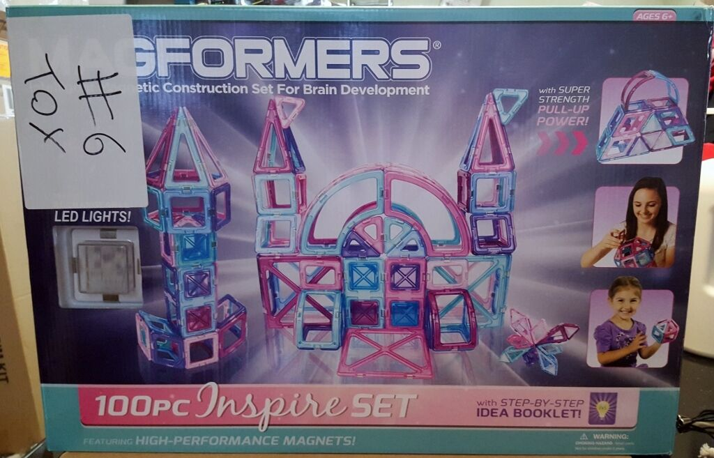 New Magformers 100 Pc Inspire Magnetic Construction Set w  LED Lights 63212