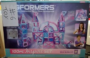 New-Magformers-100-Pc-Inspire-Magnetic-Construction-Set-w-LED-Lights-63212