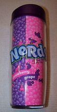 NERDS Strawberry & Grape 18oz Insulated Travel Mug PURPLE & PINK ~ NWT $15