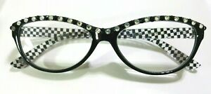 Handmade-Black-amp-White-Check-Reading-Glasses-Readers-1-50-courtly-crystal