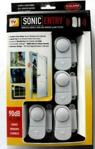Wireless Door and Window Alarm System 4 pack audible New ...