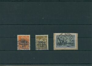 Germany-German-Reich-1923-Mi-258-260-Postmarked-Used-Mi-260-Infla-Tested